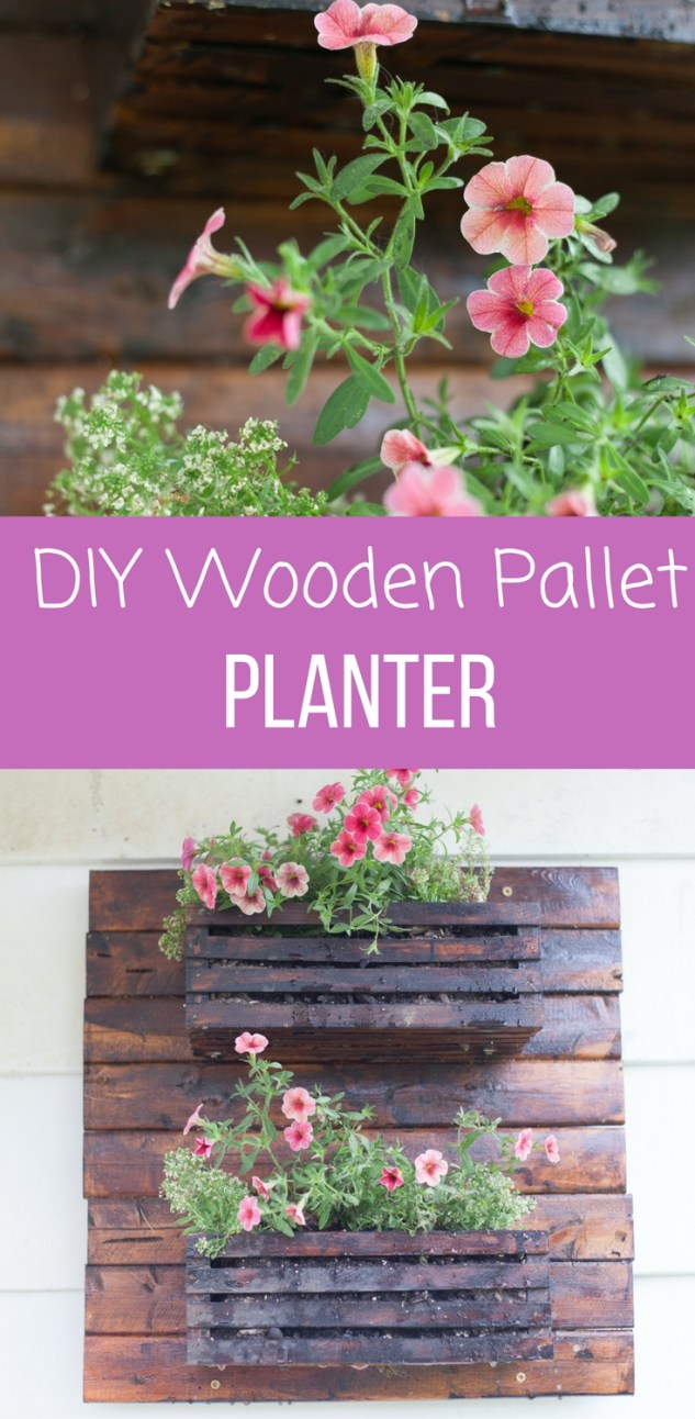 DIY Wooden Pallet Planter
