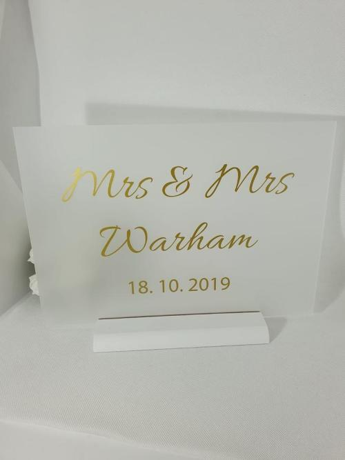 A4 Frosted Acrylic Sign