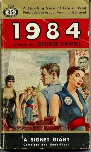 """Buchumschlag von George Orwell's """"1984"""""""