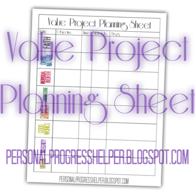 Value Project Planning Sheet