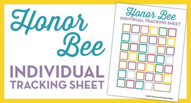Honor Bee Individual Tracking Sheet   Free Download
