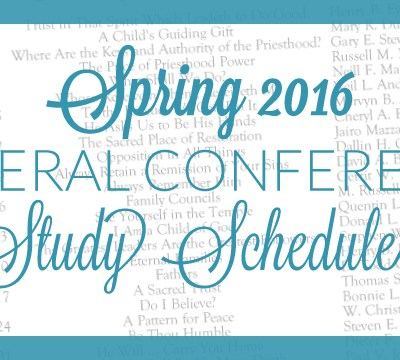 Spring 2016 General Conference Study Schedule