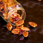 Black Pepper and Cranberry Maple Glazed Pecans