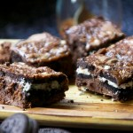 Salted Caramel Oreo Brownies