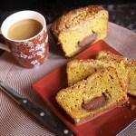 Nutella Stuffed Pumpkin Bread