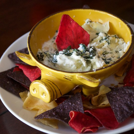 Skinny Baked Spinach and Artichoke Dip