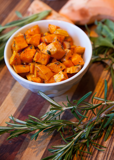 sage brown butter sweet potatoes 2