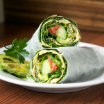 Collard Greens Hummus Wrap
