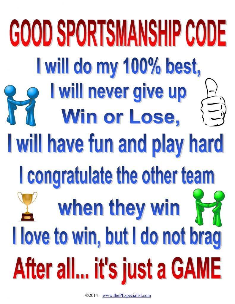 Good Sportsmanship Code