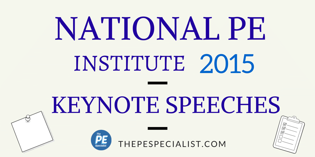 KEYNOTES @ PE Institute 2015 - Blog Graphic