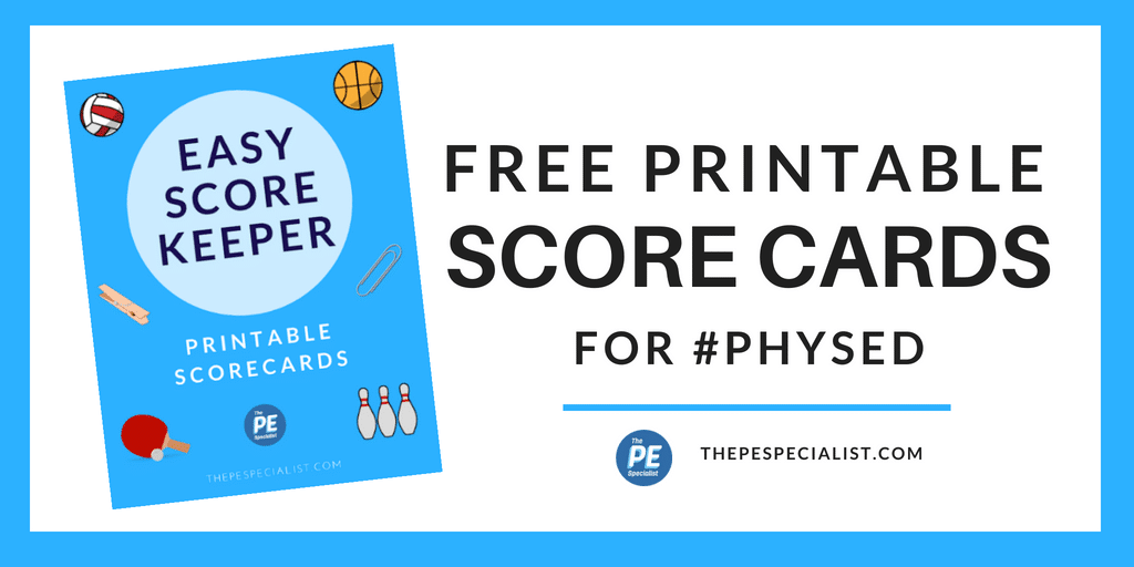 Easy Score Keeper Cards for PE Class