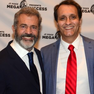 Peter Diaz with Mel Gibson