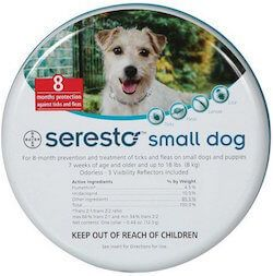 Seresto flea collar for small dog