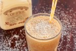 Skinny coffee milkshake - Healthy breakfast drink vegan and dairy free - recipe from thepetitecook.com