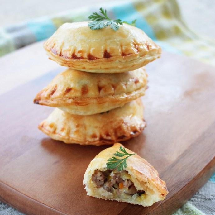 Easter Empanadas with lamb and mushroom recipe