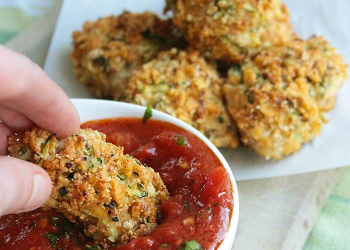 Healthy Chicken and Zucchini Nuggets easy kids recipe quick meal