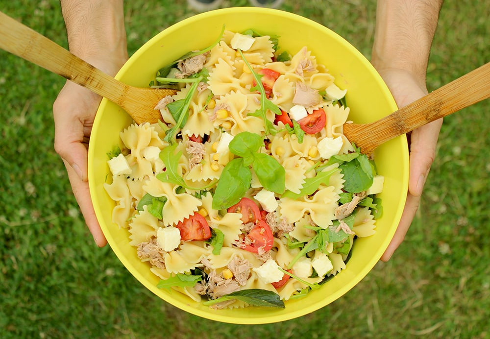 Summer Italian Pasta Salad, easy quick healthy recipe The Petite Cook