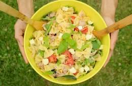 Summer Italian Pasta Salad, easy quick healthy recipe The Petite Cook