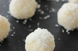 vegan, diary free coconut truffles recipe by the petite cook