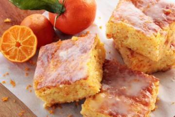 Clemetine cake bars gluten free and dairy free recipe by The petite cook