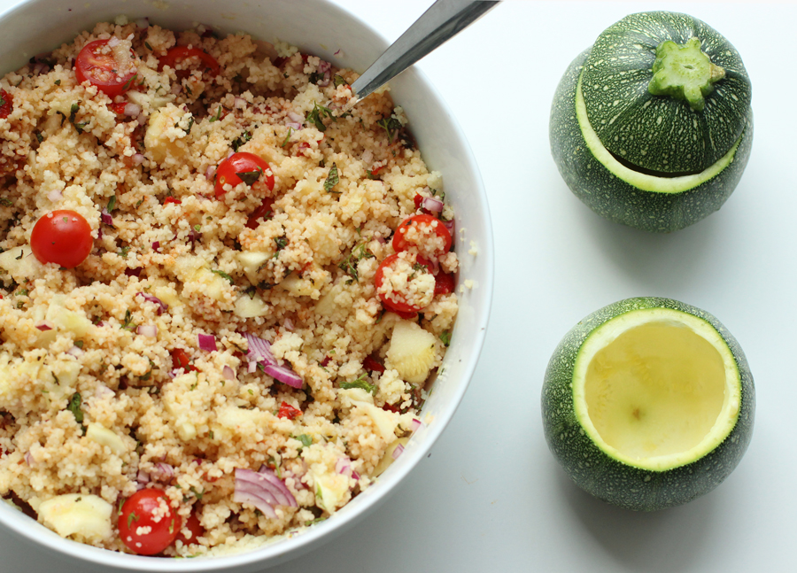 Stuffed Zucchini With Turkish Couscous Salad The Petite Cook