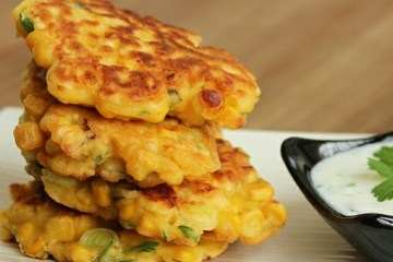 These awesome vegetarian Sweetcorn Fritters inspired by one of Chef Ramsay most popular recipes, are perfect for a quick lunch/dinner or appetizer. This recipe takes only 15 mins to make, a bunch of ingredients and just one bowl! recipe by thepetitecook.com