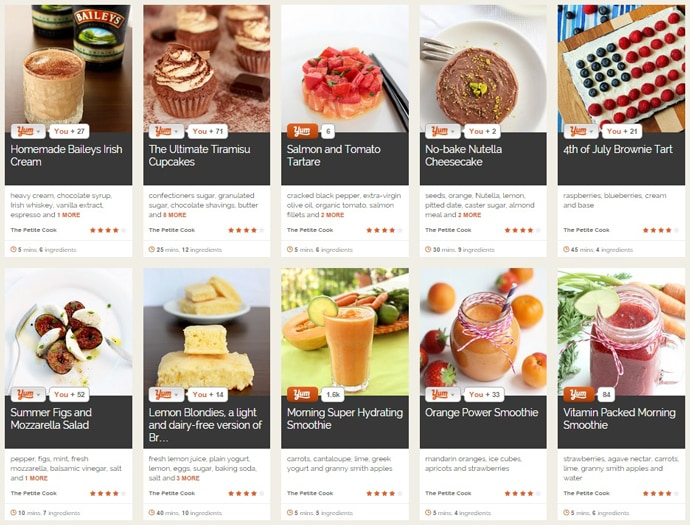 Check out The Petite Cook Yummly page and save your favorite recipes!