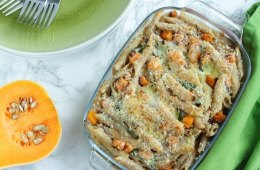 Creamy, delicious, full of flavor and incredibly easy to make. This Squash and Ricotta Pasta Bake is vegetarian comfort food at its best.