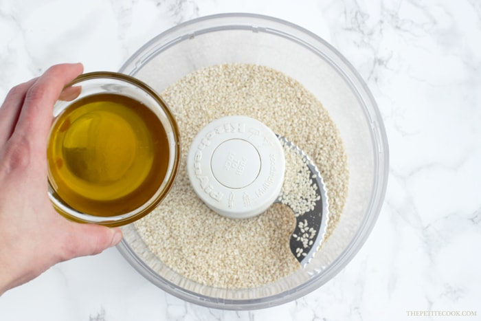 How To Make Tahini Sauce - Making your own homemade tahini sauce is easier than you think - You need only 2 ingredients to make a delicious sauce that will instantly upgrade all your healthy recipes. Vegan, Glutenfree and Dairyfree recipe by thepetitecook.com