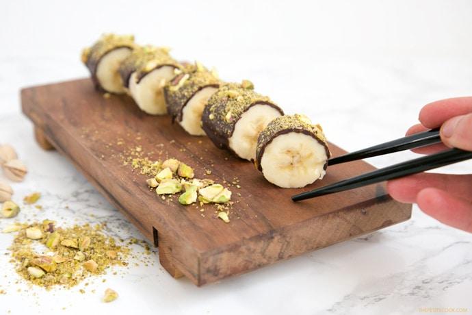 banana con chocolate