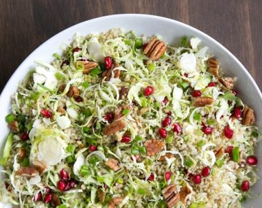 Quick #vegan and #glutenfree Winter Quinoa salad, loaded with seasonal flavour- An easy, healthy side dish that you'll want to make over and over again! Recipe by The Petite Cook