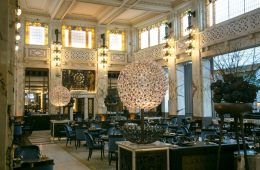 Interiors at The Bank brasserie at Park Hyatt Vienna