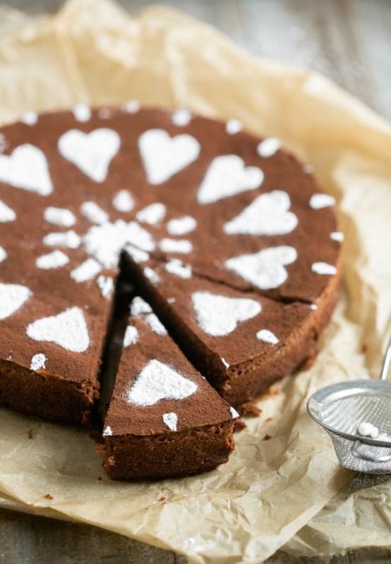 italian caprese cake, gluten-free chocolate cake
