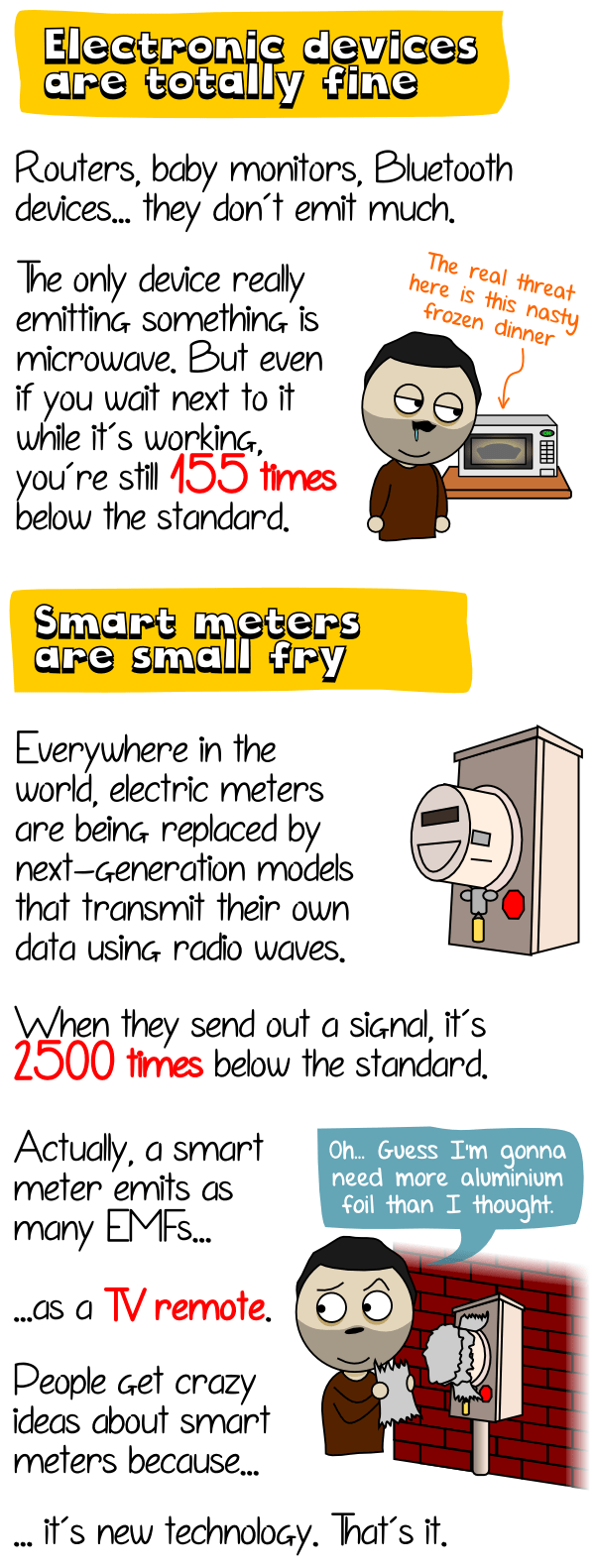 Smart electric meters emit as much EMFs as a TV remote