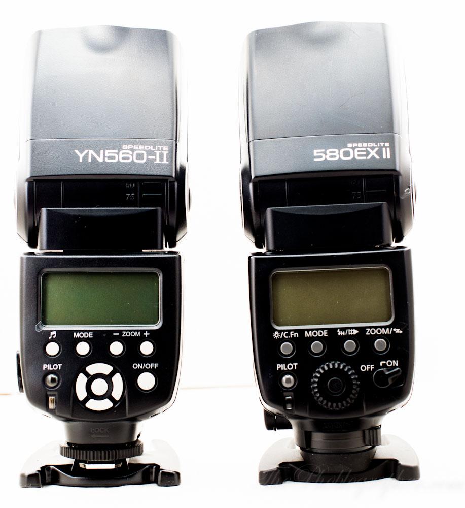 Confronto tra Yongnuo YN560-II e Canon 580EX-II