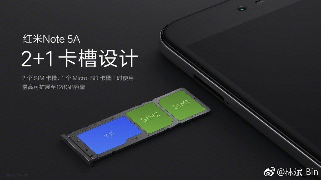 Xiaomi Redmi Note 5A SIM slot