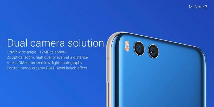 Xiaomi Mi Note 3 - dual camera
