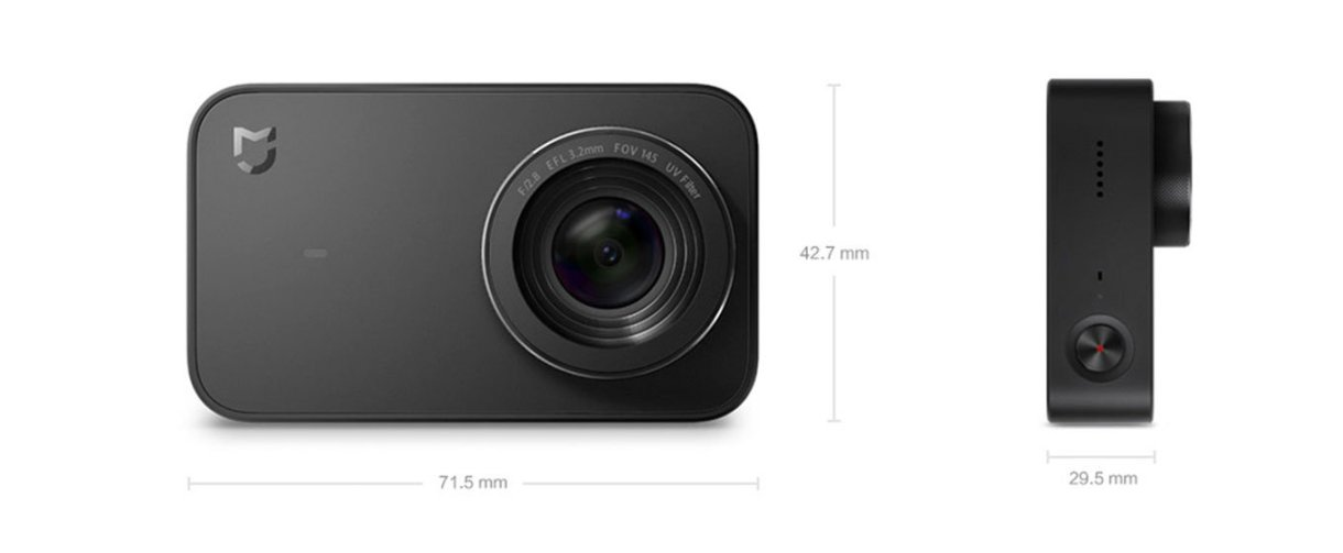 Xiaomi Mijia Camera Mini 4K dimensions