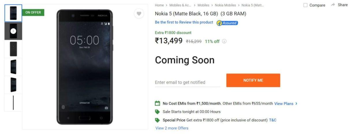 Nokia 5 (3GB RAM) Version