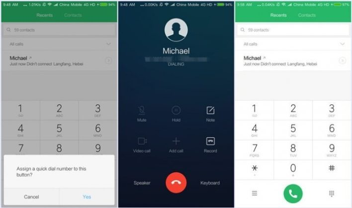 MIUI 9 Global Beta ROM 9.1.11 Launched - New Quick Dial