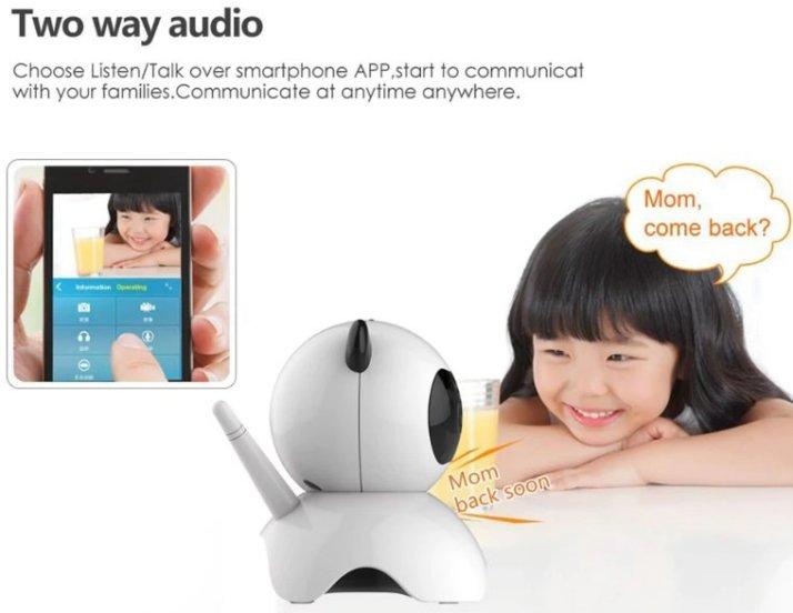 Panda Wireless HD 720P WiFi IP Camera Audio