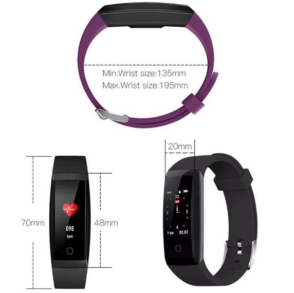 Wlngwear W8 Smart Bracelet Dimensions