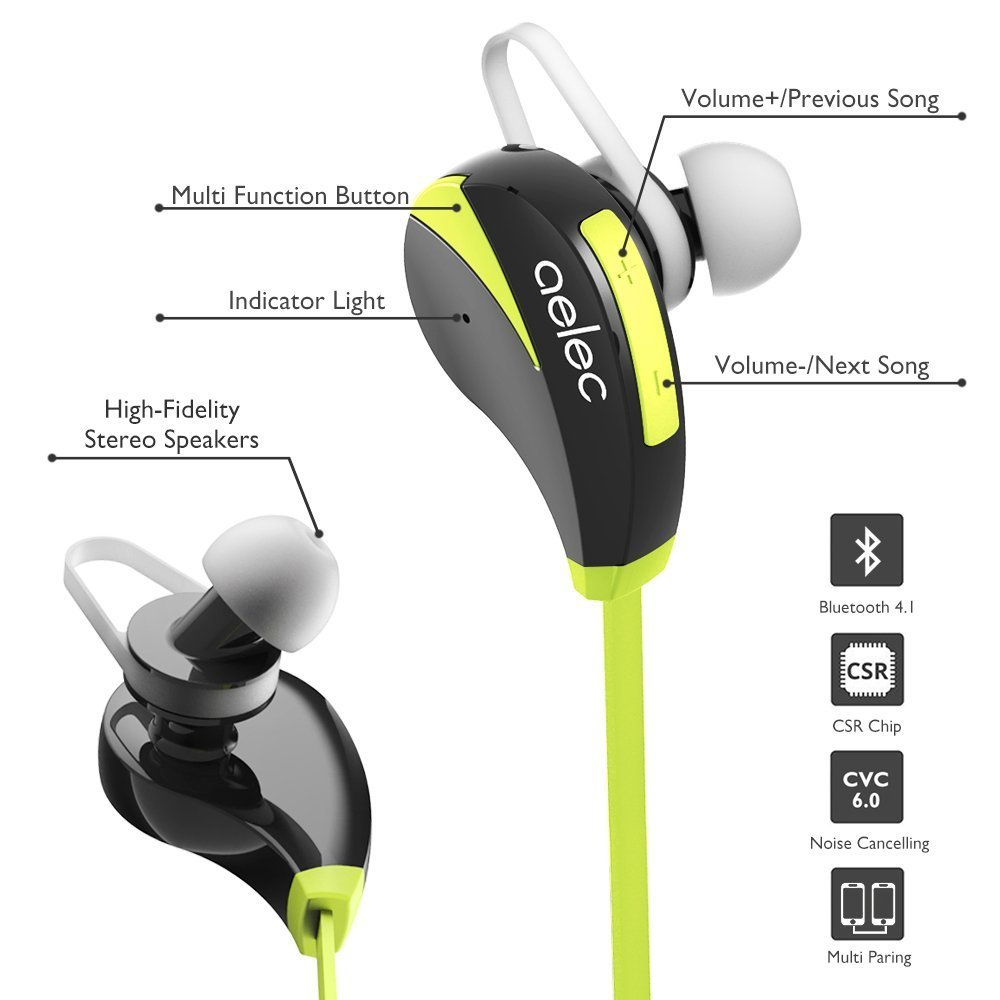 AELEC Bluetooth Headphones 1