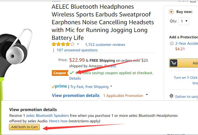 AELEC Bluetooth Headphones Coupon and Discount