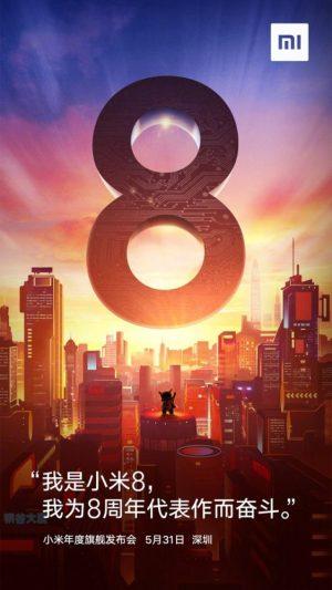 Xiaomi Mi 8 Release Date Poster