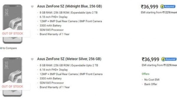 Asus Zenfone 5Z releasing India 2