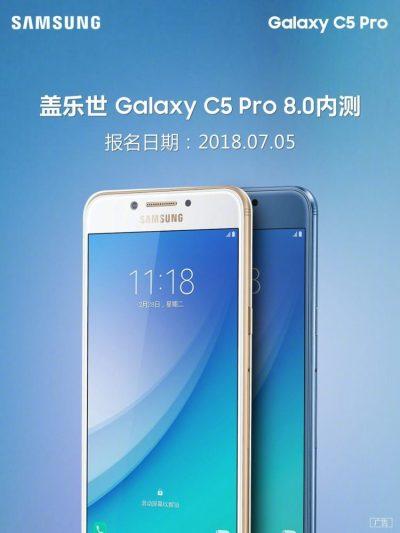 Samsung Galaxy C5 Pro Android 8.0 Beta Update Hits China