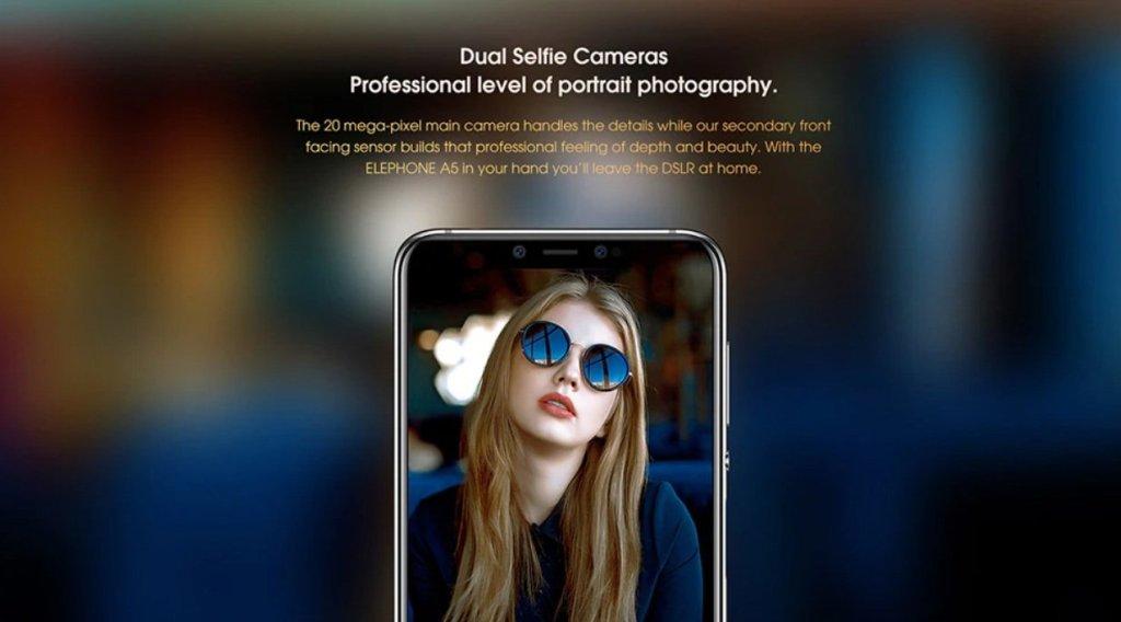 Elephone A5 Front cameras