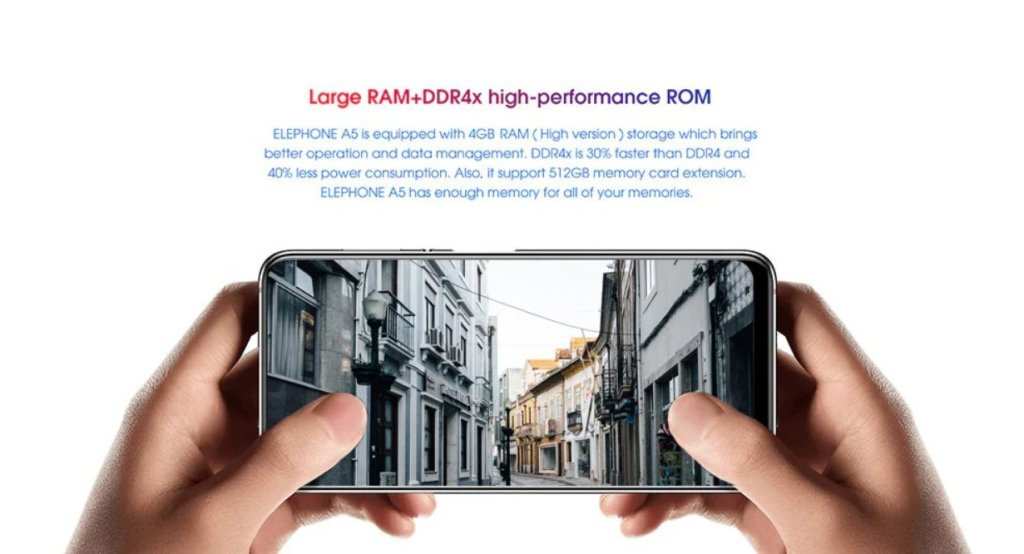 Elephone A5 RAM