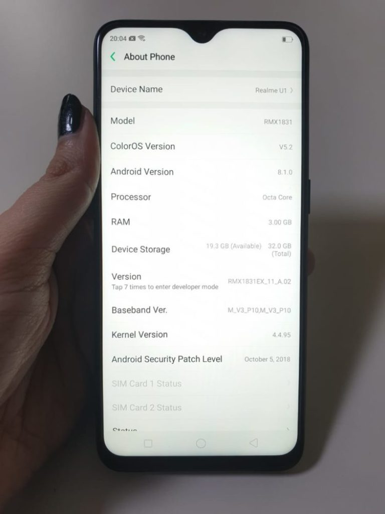 OPPO Realme U1 Hands-On Review - OS